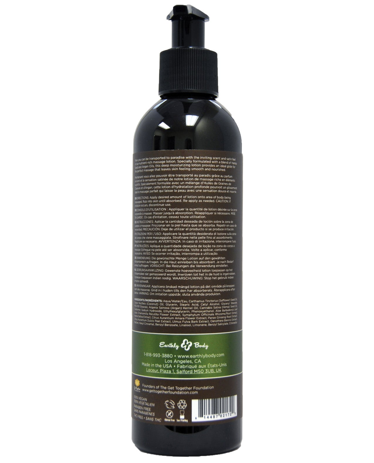 Earthly Body Hemp Seed Massage Oil Naked In The Woods