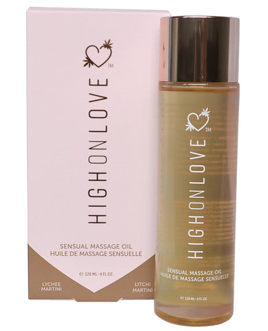 High On Love Hemp Massage Oil - Lychee Martini