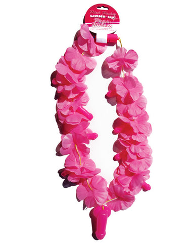 Light Up Flower Pecker Necklace - Pink