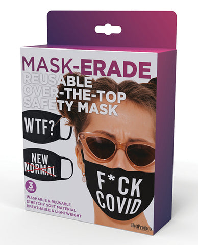 Hott Products Mask-erade Masks - F Covid-wtf?-new Normal X Pack Of 3