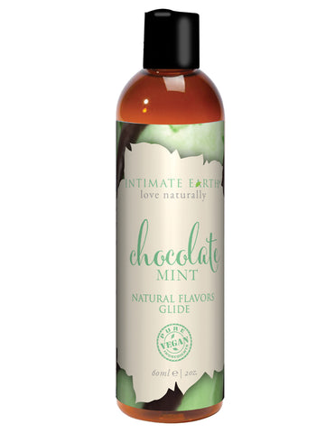 Intimate Earth Natural Flavors Glide - 60 Ml Chocolate Mint