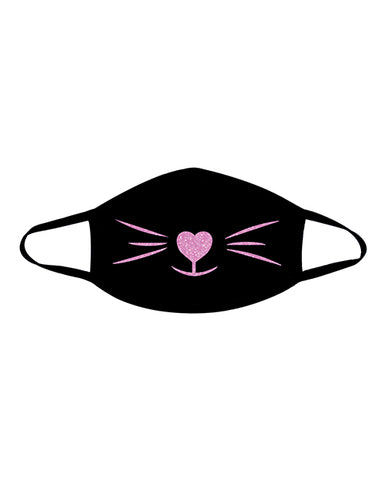 Neva Nude Meow-za Kitten Mask W-100% Cotton Liner Black