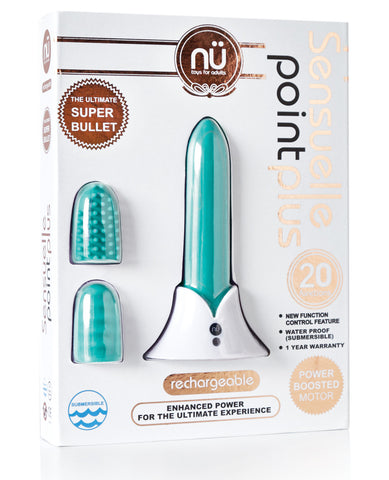 Sensuelle Point Plus Rechargeable Bullet - Tiffany Blue