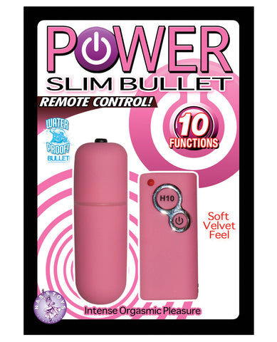 Power Slim Bullet Remote Control - Pink