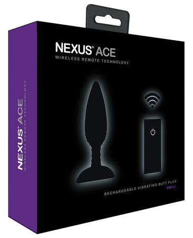 Nexus Ace Remote Control Butt Plug Small - Black