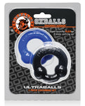 Oxballs Ultraballs Cock Rings - Black-police Blue Pack Of 2