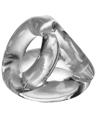 Oxballs Atomic Jock Tri Sport 3 Ring Sling Cockring - Clear