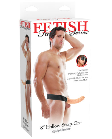 "Fetish Fantasy Series 8"" Hollow Strap On - Flesh"