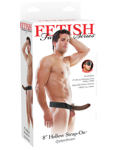 "Fetish Fantasy Series 8"" Hollow Strap On - Brown"