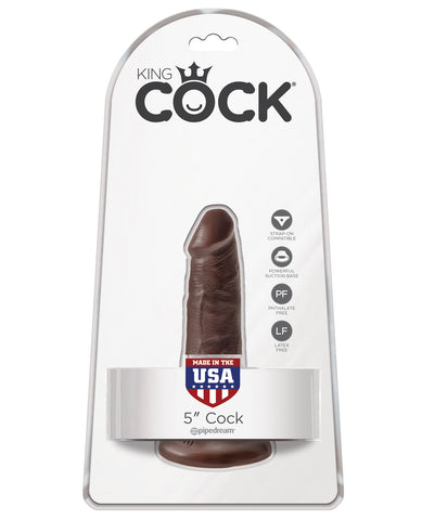 "King Cock 5"" Cock - Brown"