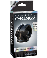 Fantasy C-ringz Rock Hard Cock Pipe - Black