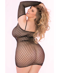 Pink Lipstick Bad Intentions Fishnet Dress Black 1x