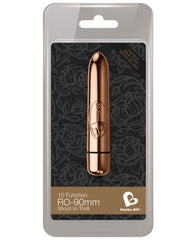 Rocks Off Ro-90 Mm Bullet - 10 Speed Rose Gold