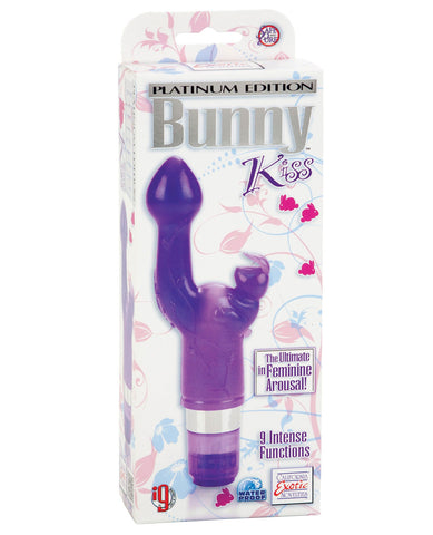 Platinum Edition Bunny Kiss - 9 Function Purple