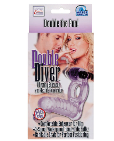 Double Diver Vibrating Enhancer W-flexible Penetrator