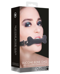 Shots Ouch Bone Gag - Black