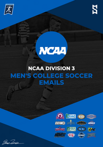NCAA D3 Men's College Soccer Emails