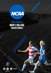 NCAA D1 Men's College Soccer Emails