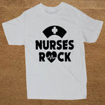 Nurses Rock T Shirt Men Cotton Short Sleeve