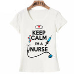 Keep Calm Nurse T-shirt women