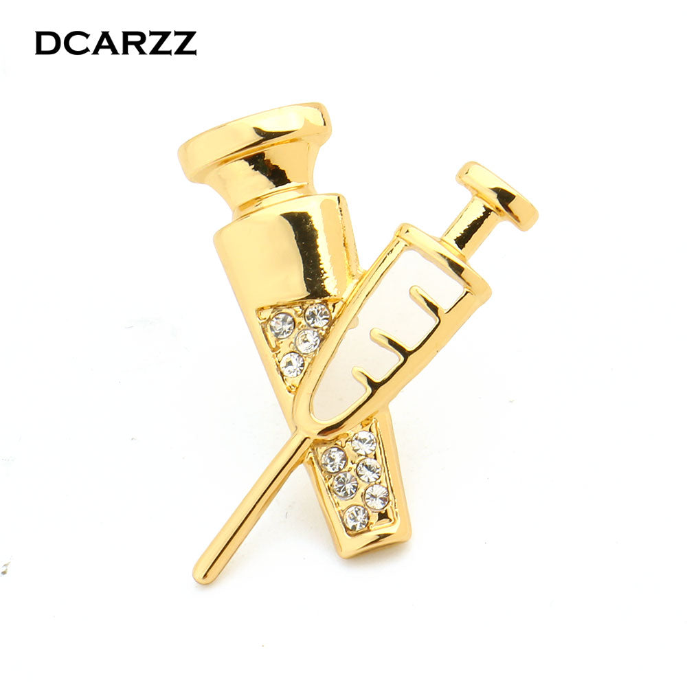 Nurse Gold Color Syringe Pin