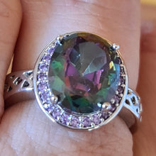 WOW. Mystic topaz ring size 8 (P 1/2 - Q)