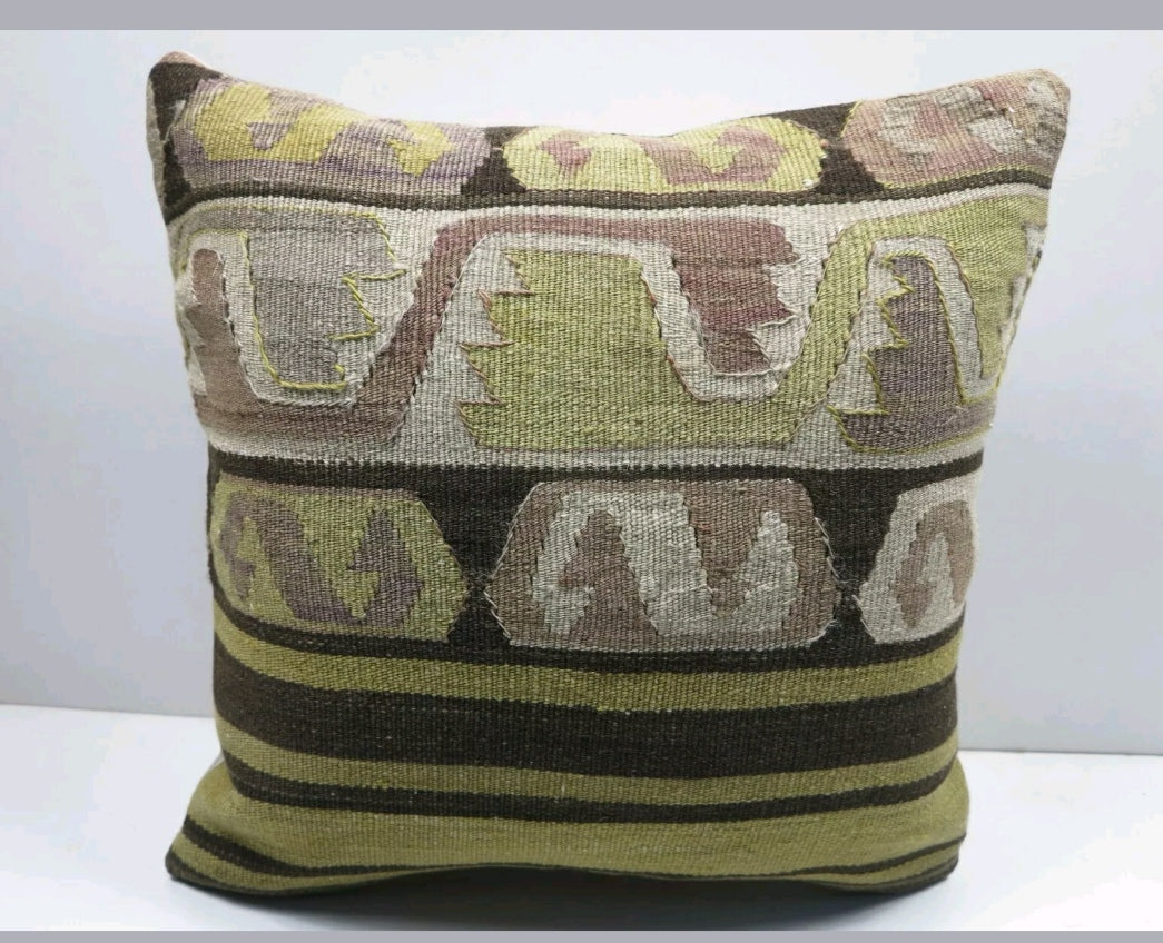 Woollen Turkish Kilim Cushion cover
