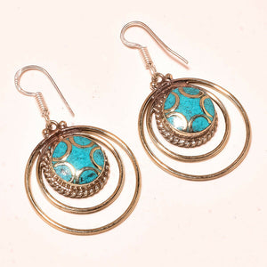 Turquoise Tibetan Earrings