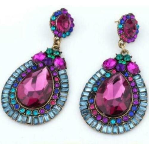 Statement Rhinestone Earrings