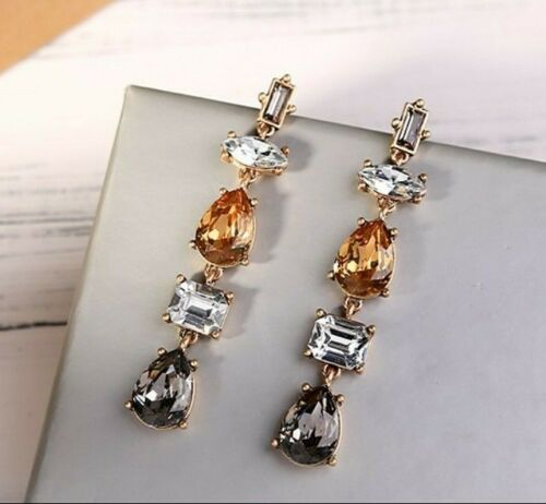 Beautiful Crystal Rhinestone Drop Earrings