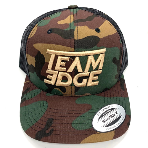 Team Edge Camo/Black-Tan Trucker Hat