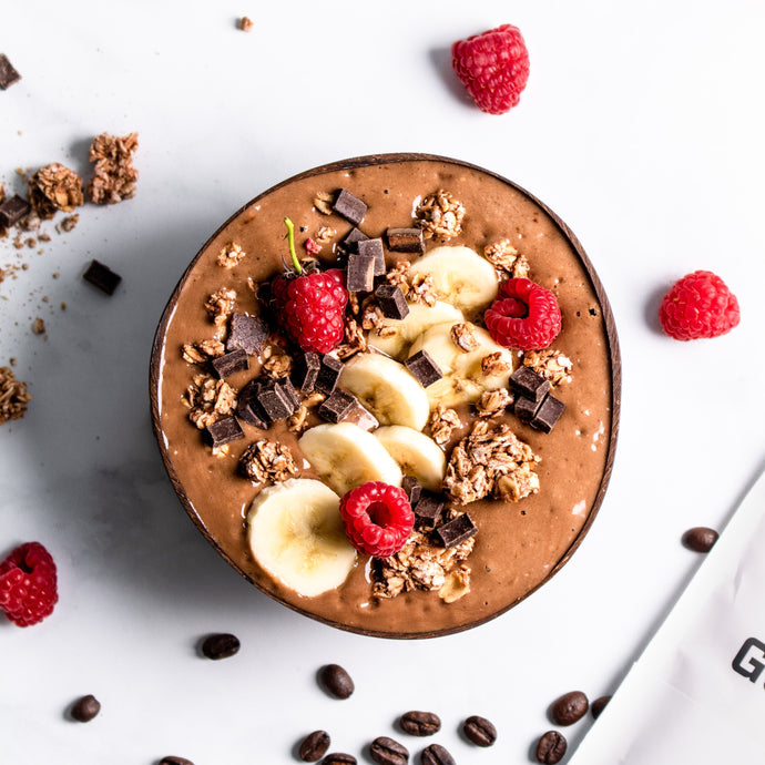 Smoothie bowl mocha latté