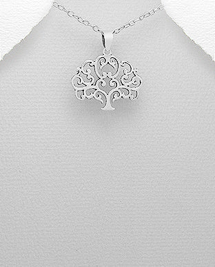 Sterling Silver Tree Of Life Necklace - Girl Smiles