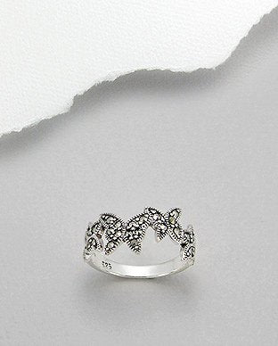 Marcasite Butterfly Sterling Silver Ring - Girl Smiles
