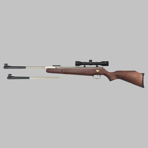 Beeman Silver Kodiak X2  Dual Caliber Air Rifle with 4x32mm Scope and Mounts