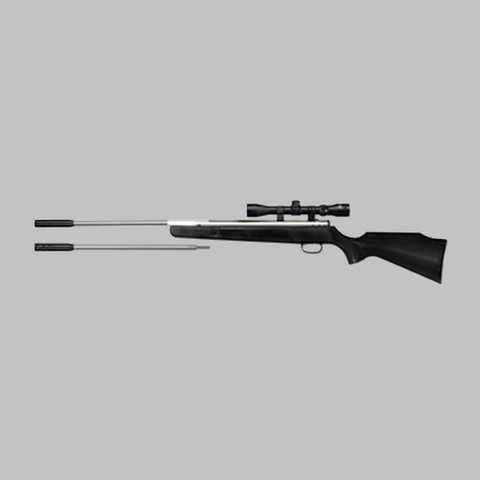 Beeman Silver Kodiak X2 Dual Caliber Air Rifle with 4x32mm Scope and Case