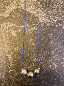 Tahitian Pearls on Gossamer Silk