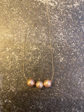 Taupe/Pink Edison Pearls on Gossamer Silk