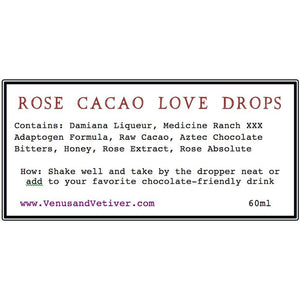 ROSE CACAO LOVE DROPS with CBD