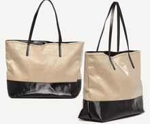 Jack Gomme Linen Two-Tone Tote