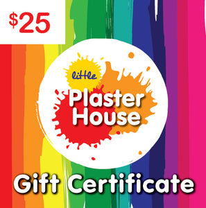 Plaster Painting Gift Certificate $25