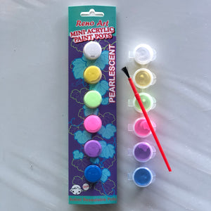 Mini Pearlescent Acrylic Paint & Brush Set