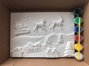 Limited Edition Christmas Scene Plaster