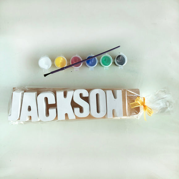 Plaster Name Party Bags - 7 Letters