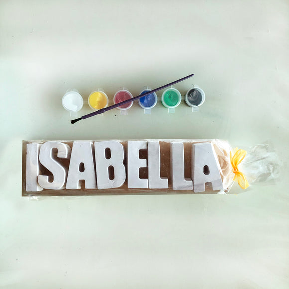 Plaster Name Party Bags - 8 Letters
