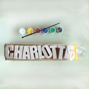 Plaster Name Party Bags - 9 Letters