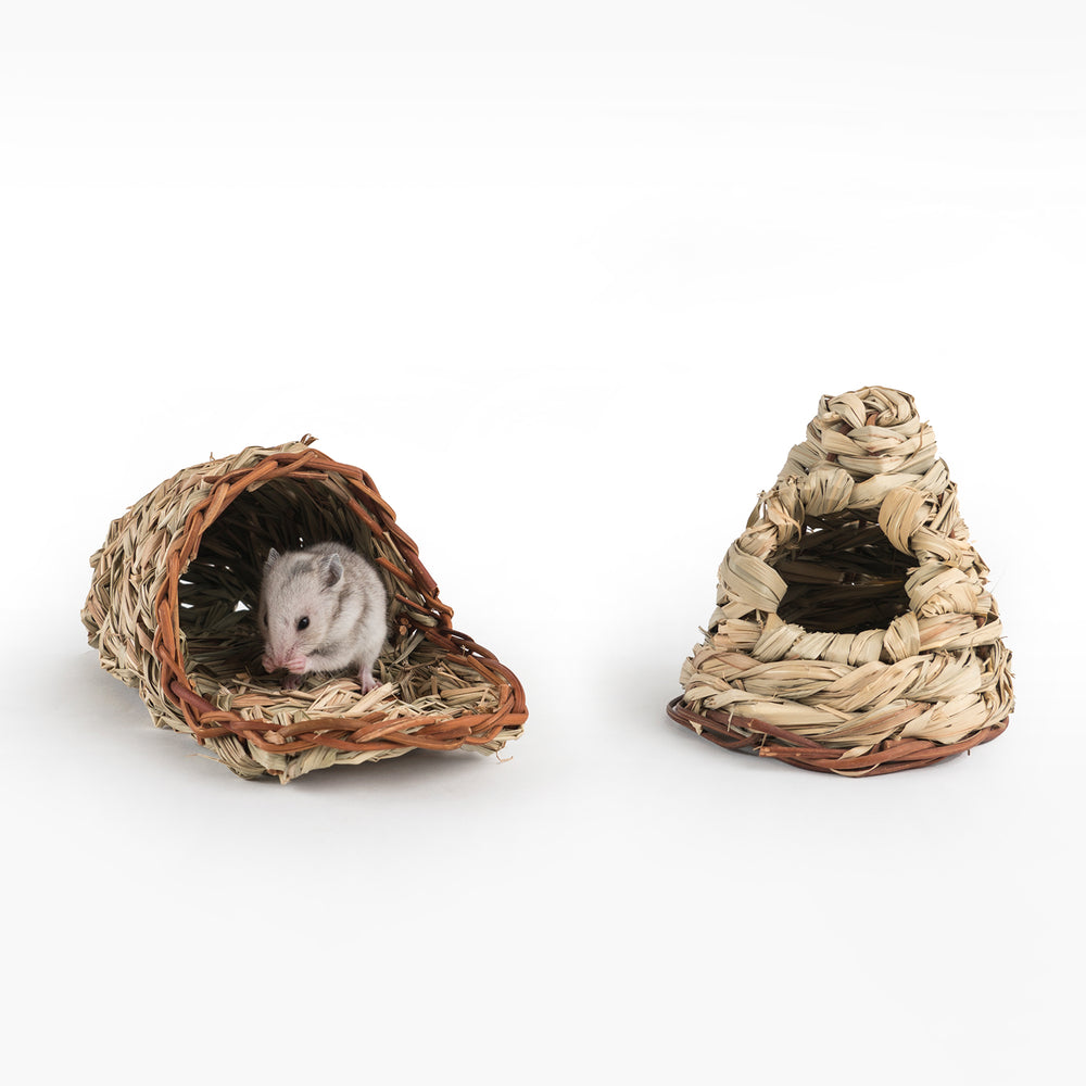 Niteangel Hamster Reed Woven Nest Natural Hideout