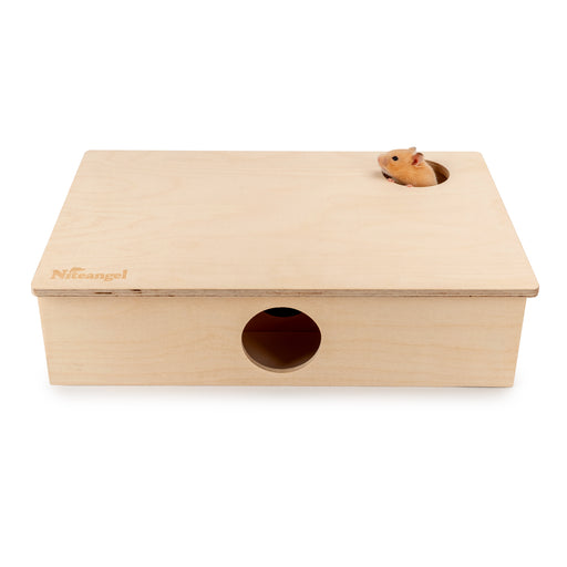 Niteangel Large Wooden Multi-Chamber Hideout for Dwarf and Syrian Hamsters