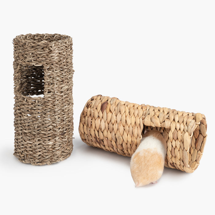 Niteangel Leave Woven Tube Water Hyacinth and Sea-weed Chew Toy