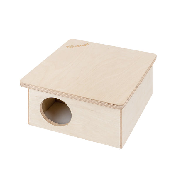 Niteangel Wooden 3-Chamber 2-Chamber Hideout for Dwarf and Syrian Hamsters
